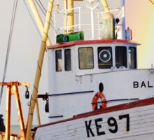 A lone boat in Kef Sticker