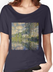 Claude Monet - Poplars on the Epte (1891)  Women's Relaxed Fit T-Shirt