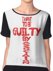 Guilty By Association Chiffon Top