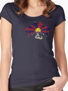 TIBET 2 HEADED DRAGON FLAG Women's Fitted Scoop T-Shirt