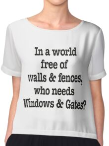 Windows & Gates Chiffon Top