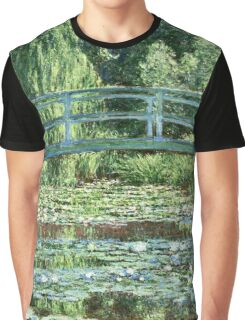 Claude Monet - The Japanese Footbridge and the Water Lily Pool, Giverny (1899)  Graphic T-Shirt