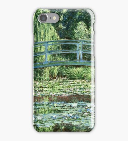 Claude Monet - The Japanese Footbridge and the Water Lily Pool, Giverny (1899)  iPhone Case/Skin