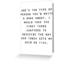 She's the type of person... Greeting Card