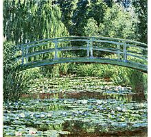 Claude Monet - The Japanese Footbridge and the Water Lily Pool, Giverny (1899)  Photographic Print