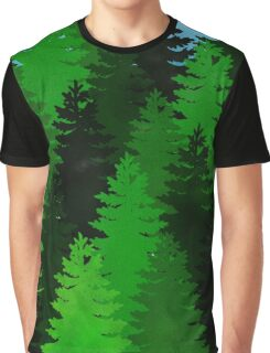 green pine trees pattern Graphic T-Shirt