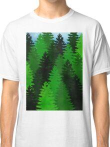 green pine trees pattern Classic T-Shirt