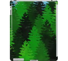 green pine trees pattern iPad Case/Skin