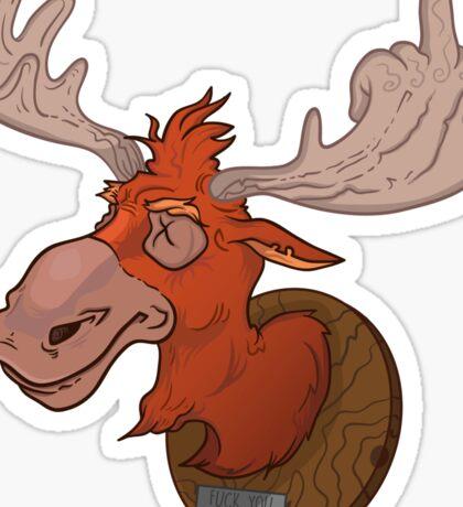 Moose says hello Sticker