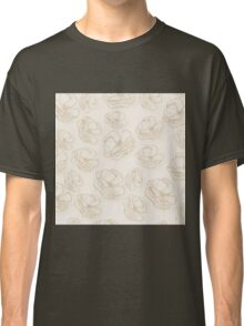 fall floral pattern,beige,gold,rustic,pattern,floral,flowers,trendy,modern Classic T-Shirt