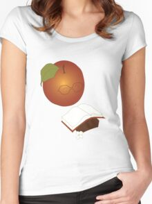 Apples are the fruit of Knowledge Women's Fitted Scoop T-Shirt