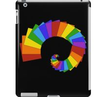 Spiral of Rainbow Squares iPad Case/Skin