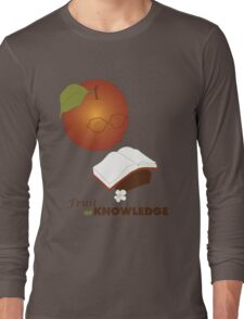 Apple are the fruit of Knowledge V2 Long Sleeve T-Shirt