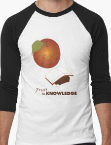 Apple are the fruit of Knowledge V2 Men's Baseball ¾ T-Shirt