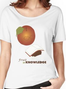 Apple are the fruit of Knowledge V2 Women's Relaxed Fit T-Shirt