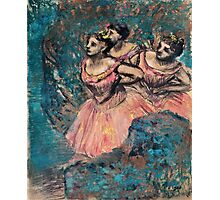 Edgar Degas - Three Dancers in Red Costume (1896)  Photographic Print