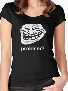 PROBLEM TROLLFACE TROLL FACE Women's Fitted Scoop T-Shirt