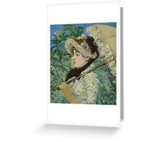 Edouard Manet - Jeanne (Spring) Greeting Card