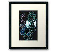 Girl+ [without bandaid] Framed Print