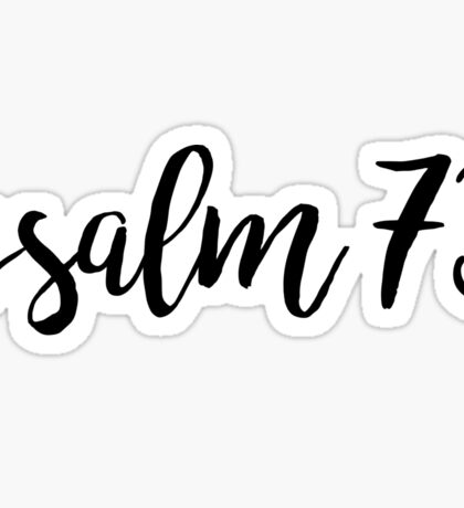 Psalm 73 Sticker