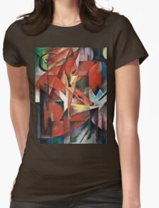 Franz Marc - The Foxes (1913)  Womens Fitted T-Shirt