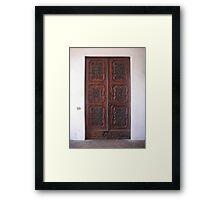 Ornate Little Door Framed Print