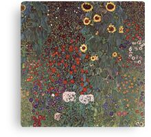 Gustav Klimt - Country Garden With Sunflowers 1906 Canvas Print