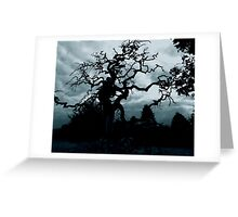 Eerie tree Greeting Card