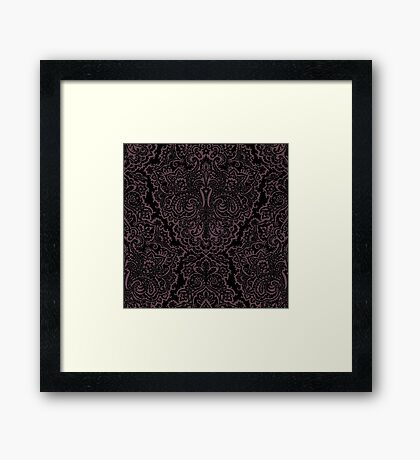 Velvet Wallpaper Framed Print