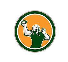 American Football QB Throwing Circle Retro by patrimonio