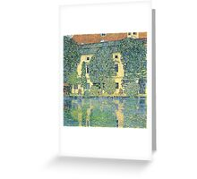 Gustav Klimt - The Schloss Kammer On The Attersee Iii  Greeting Card