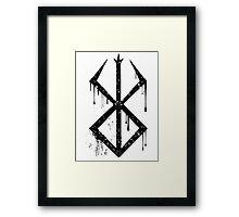 Sacrifice Symbol Black Framed Print