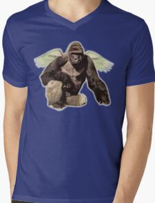 Harambe from above Mens V-Neck T-Shirt