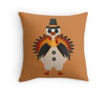 Funny Thanksgiving Turkey  Throw Pillow