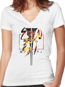 LOW FIDELITY Women's Fitted V-Neck T-Shirt