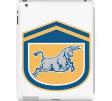Bull Attacking Charging Shield Retro iPad Case/Skin