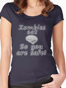 Zombies eat brains Women's Fitted Scoop T-Shirt