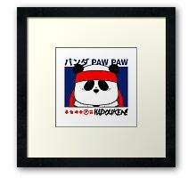 Panda (Hadouken) Framed Print