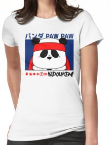 Panda (Hadouken) Womens Fitted T-Shirt