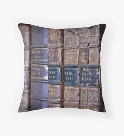 Delicate Pages of History  Throw Pillow