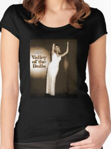 VALLEY OF THE DOLLS SHARON TATE AS JENNIFER POSTER VERSION  Women's Fitted Scoop T-Shirt