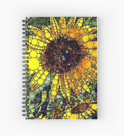 sunflower fields Spiral Notebook