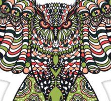 Colorfull gorgeos eagle owl Sticker