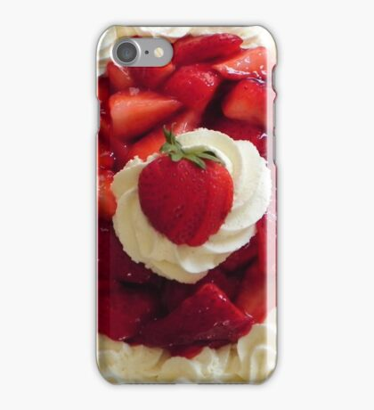 Strawberries-and-Cream Novelty iPhone Case/Skin