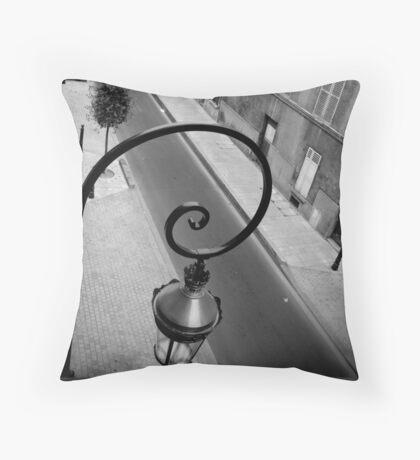 Parisan Street Lamp Throw Pillow
