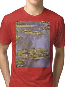 Claude Monet - Water Lilies 8 Tri-blend T-Shirt