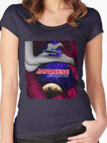 Japanese Drugstore Flying Saucer Women's Fitted Scoop T-Shirt