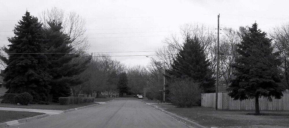 Black and White Street by kylethale