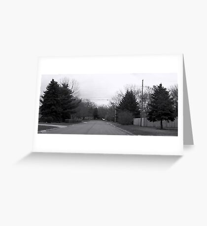 Black and White Street Greeting Card
