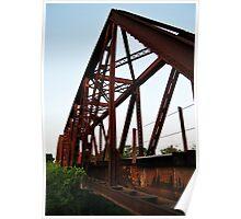 Rail Road Bridge Richmond Texas Poster